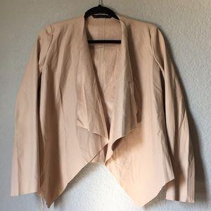 Zara Leather Cream Blazer